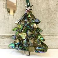Decoration - Paua Shell Mosaic Hanging Tree (double sided)